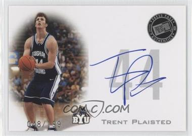 2008 Press Pass Press Pass Signings Silver #PPS-TP - Trent Plaisted /199