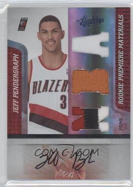 2009-10 Absolute Memorabilia - [Base] - Rookie Premiere Materials NBA Spectrum Prime Signatures [Autographed] [Memorabilia] #162 - Jeff Pendergraph /5
