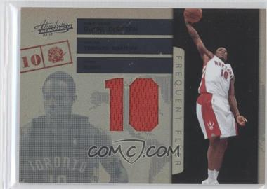 2009-10 Absolute Memorabilia Frequent Flyer Jersey Number Materials #10 - DeMar DeRozan /25