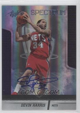 2009-10 Absolute Memorabilia Platinum Spectrum Signatures [Autographed] #59 - Devin Harris /25