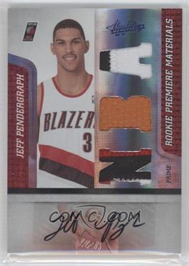 2009-10 Absolute Memorabilia Rookie Premiere Materials NBA Spectrum Prime Signatures [Autographed] [Memorabilia] #162 - Jeff Pendergraph /5