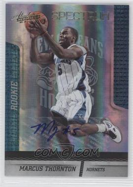 2009-10 Absolute Memorabilia Spectrum Gold Signatures #126 - Marcus Thornton /249