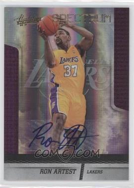 2009-10 Absolute Memorabilia Spectrum Gold Signatures #92 - Ron Artest /49