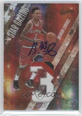 2009-10 Absolute Memorabilia Star Gazing Jumbo Jersey Number Prime Signatures [Autographed] #3 - Brandon Jennings /10