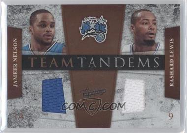2009-10 Absolute Memorabilia Team Tandems Materials #9 - Jameer Nelson, Rashard Lewis /100
