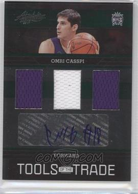 2009-10 Absolute Memorabilia Tools of the Trade Triple Green Signature Materials #TOTT15 - Omri Casspi /10