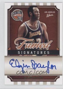2009-10 Basketball Hall of Fame Famed Signatures #EB - Elgin Baylor /199