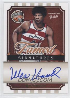 2009-10 Basketball Hall of Fame Famed Signatures #WU - Wes Unseld /492