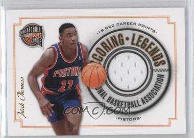 2009-10 Basketball Hall of Fame Scoring Legends Swatch #12 - Isiah Thomas /199