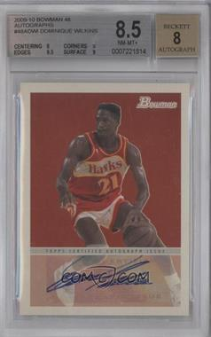 2009-10 Bowman '48 '48 Autographs #48A-DWI - Dominique Wilkins [BGS 8.5]