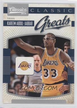 2009-10 Classics Classic Greats Silver #16 - Kareem Abdul-Jabbar /250
