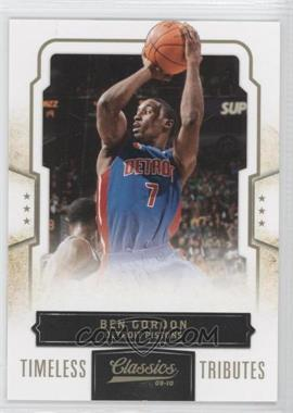 2009-10 Classics Gold Timeless Tributes #42 - Ben Gordon /50