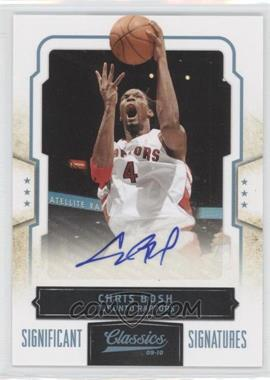 2009-10 Classics Platinum Significant Signatures [Autographed] #14 - Chris Bosh /9