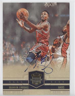 2009-10 Court Kings Box Topper [Base] 5 x 7 [Autographed] #40 - Brandon Jennings /75
