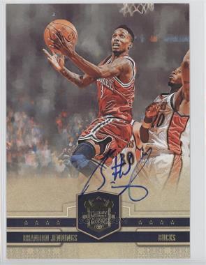2009-10 Court Kings Box Topper [Base] 5 x 7 [Autographed] #40 - Brandon Jennings /75
