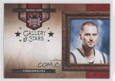 2009-10 Court Kings Gallery of Stars Silver #20 - Kevin Love /49