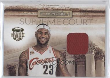 2009-10 Court Kings Supreem Court Memorabilia #17 - Lebron James /99