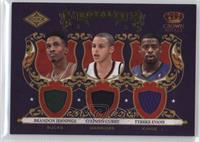 Brandon Jennings, Stephen Curry, Tyreke Evans #206/499