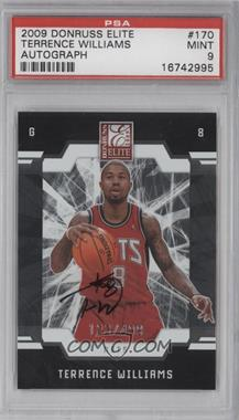 2009-10 Donruss Elite - [Base] #170 - Terrence Williams /499 [PSA 9]