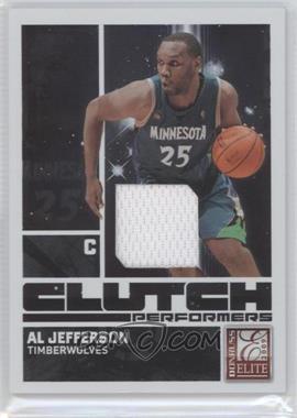 2009-10 Donruss Elite - Clutch Performers - Jersey #17 - Al Jefferson /299