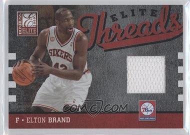 2009-10 Donruss Elite - Elite Threads #37 - Elton Brand /99
