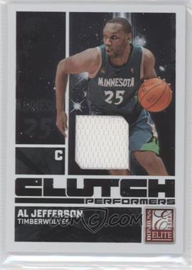 2009-10 Donruss Elite Clutch Performers Jersey #17 - Al Jefferson /299