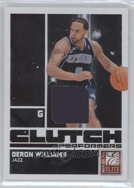 2009-10 Donruss Elite Clutch Performers Jersey #8 - Deron Williams /299