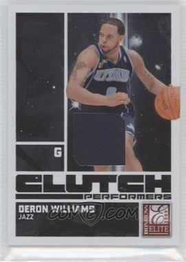 2009-10 Donruss Elite Clutch Performers Jersey #8 - Deron Williams /299