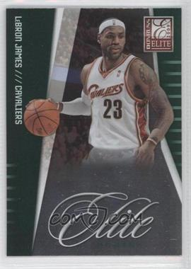 2009-10 Donruss Elite Elite Series Green #5 - Lebron James