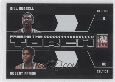 2009-10 Donruss Elite Passing the Torch Black #2 - Bill Russell, Robert Parish /25