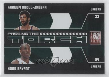2009-10 Donruss Elite Passing the Torch Green #15 - Kareem Abdul-Jabbar, Kobe Bryant