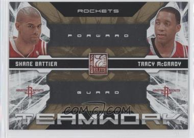 2009-10 Donruss Elite Teamwork Combos Gold #10 - Shane Battier, Tracy McGrady /100