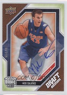 2009-10 Draft Edition Autograph Green #66 - Nick Calathes /249