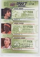 Ricky Rubio, Jonny Flynn, Stephen Curry /50