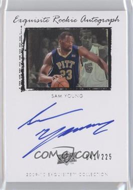 2009-10 Exquisite Collection - [Base] #55 - Sam Young /225