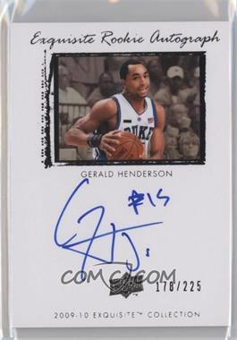 2009-10 Exquisite Collection #60 - Gerald Henderson /225