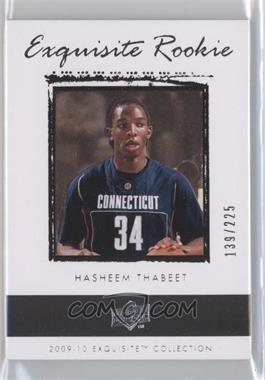 2009-10 Exquisite Collection #61 - Hasheem Thabeet /225