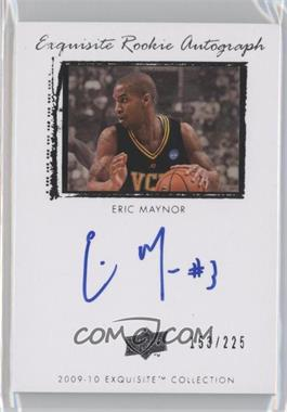 2009-10 Exquisite Collection #63 - Eric Maynor /225