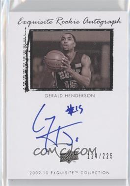 2009-10 Exquisite Collection #77 - Gerald Henderson /225