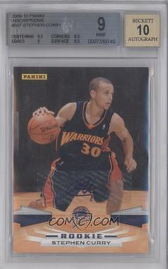 2009-10 Panini - [Base] - Inscriptions [Autographed] #307 - Stephen Curry [BGS9]