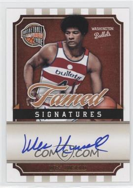 2009-10 Panini Basketball Hall of Fame Famed Signatures #WU - Wes Unseld /492