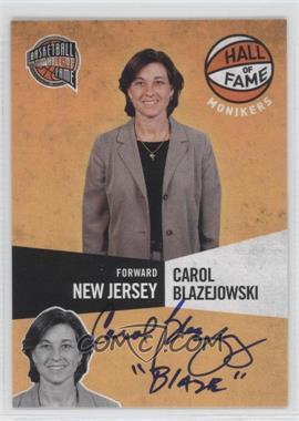 2009-10 Panini Basketball Hall of Fame Monikers #18 - Carol Blazejowski /299