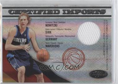 2009-10 Panini Certified - Certified Imports - Materials [Memorabilia] #04 - Dirk Nowitzki /99