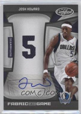2009-10 Panini Certified Fabric of the Game Jersey Number Die-Cut Signatures [Autographed] #FOG-JH - Josh Howard /25