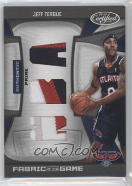 2009-10 Panini Certified Fabric of the Game NBA Die-Cut Prime #FOG-JT - Jeff Teague /25
