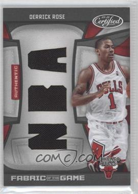 2009-10 Panini Certified Fabric of the Game NBA Die-Cut #FOG-DR - Derrick Rose /50