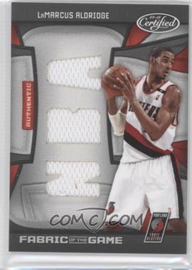 2009-10 Panini Certified Fabric of the Game NBA Die-Cut #FOG-LA - LaMarcus Aldridge /50