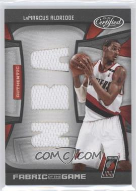 2009-10 Panini Certified Fabric of the Game NBA Die-Cut #FOG-LA - LaMarcus Aldridge /50