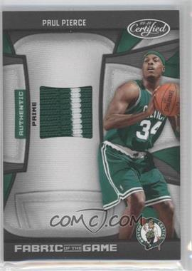 2009-10 Panini Certified Fabric of the Game Prime #FOG-PP - Paul Pierce /10