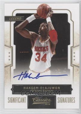 2009-10 Panini Classics Gold Significant Signatures [Autographed] #122 - Hakeem Olajuwon /50